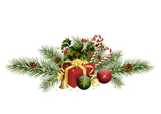Christmas decoration with fir twigs Royalty Free Stock Photography