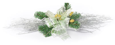 Christmas decoration with flower Stock Photos