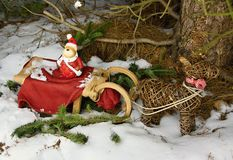 Christmas decoration in forest Royalty Free Stock Photo