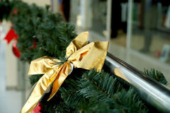 Christmas decoration in the form of a bow Royalty Free Stock Photo