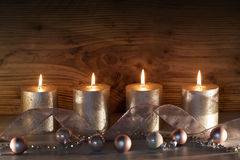 Christmas decoration with four candles Stock Image
