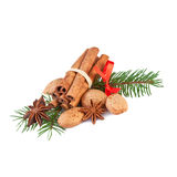 Christmas Decoration with fragrant Spices Royalty Free Stock Images