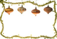 Christmas decoration frame Stock Photo