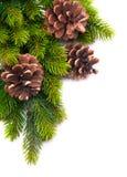 Christmas decoration frame stock image