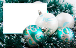 Christmas decoration and frame Stock Photos