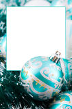 Christmas decoration with frame Royalty Free Stock Photo
