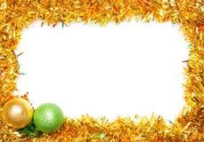 Christmas decoration frame Royalty Free Stock Photo