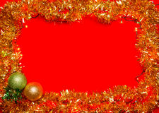 Christmas decoration frame Royalty Free Stock Photo
