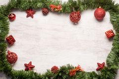 Christmas decoration frame Royalty Free Stock Photos