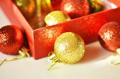 Christmas decoration. Free space for text. Christmas background royalty free stock images
