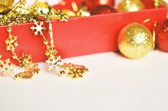 Christmas decoration. Free space for text. Christmas background stock photo