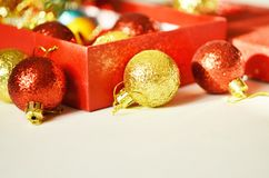 Christmas decoration. Free space for text. Christmas background royalty free stock photos