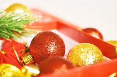 Christmas decoration. Free space for text. Christmas background stock photography