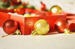 Christmas decoration. Free space for text. Christmas background royalty free stock photo
