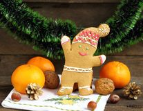 Christmas decoration with  friendly, snowmen Stock Photography