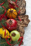 Christmas decoration with fruit Royalty Free Stock Photography