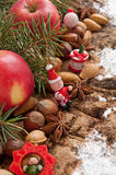 Christmas decoration with fruit Royalty Free Stock Photos