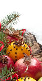 Christmas decoration with fruit Stock Photography