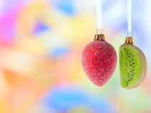 Christmas Decoration Fruits Stock Image