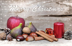 Christmas decoration with fruits Royalty Free Stock Photo