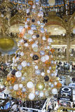 The Christmas decoration at Galeries Lafayette shopping center, Royalty Free Stock Photos