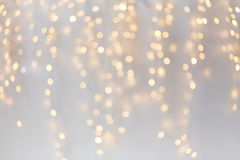 Christmas decoration or garland lights bokeh Stock Images