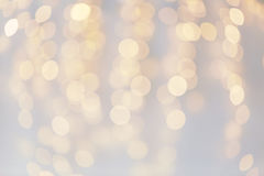 Christmas decoration or garland lights bokeh Stock Image