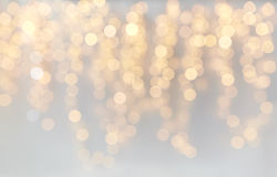 Christmas decoration or garland lights bokeh Royalty Free Stock Image