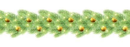 Christmas decoration garland seamless. Royalty Free Stock Photography