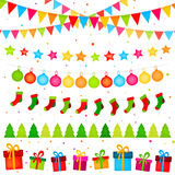 Christmas decoration garlands Royalty Free Stock Photo