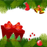 Christmas decoration with gift Stock Photo