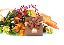 Christmas Decoration and Gift Box Royalty Free Stock Photos