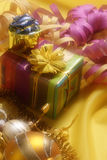 Christmas decoration with gift box Stock Photography
