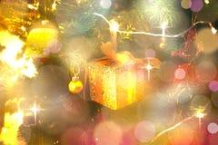 Christmas decoration gift box Royalty Free Stock Photos