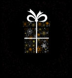 Christmas decoration with gift box Royalty Free Stock Photography