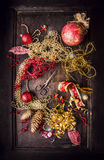 Christmas decoration and gift make with old  scissors Stock Photo