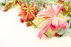 Christmas decoration and giftbox Stock Photo