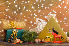 Christmas decoration with gifts Stock Photos