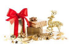 Christmas decoration with gifts Stock Images
