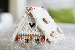 Christmas decoration gingerbread. Small cottage, house Royalty Free Stock Images