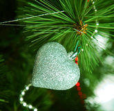 Christmas decoration - glass heart. Royalty Free Stock Image