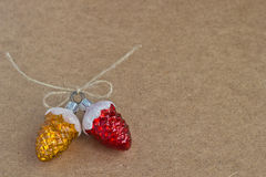 Christmas decoration glass pine cones Stock Images
