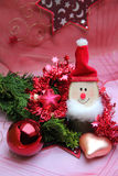 Christmas decoration with gnome and baubles Stock Photos
