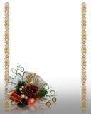 Christmas decoration gold border vector illustration
