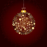 Christmas decoration gold and brown Royalty Free Stock Photos