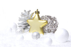 Christmas decoration gold, silver Royalty Free Stock Photography