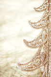 Christmas decoration gold tree Stock Photo