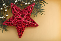 Christmas decoration. Golden background Royalty Free Stock Photo