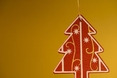 Christmas decoration on golden background Stock Images