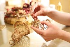 Christmas decoration, golden bells Royalty Free Stock Photos